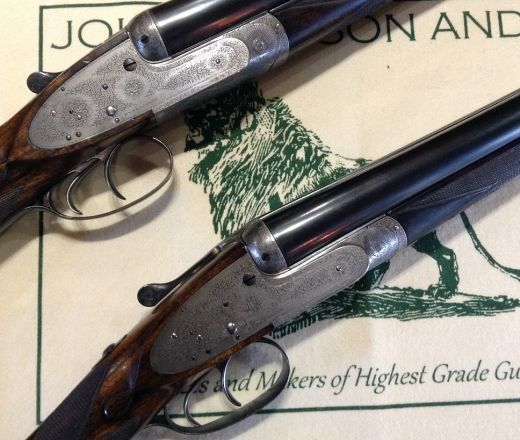 Pair of Henry Atkin 'Spring-Opener' guns
